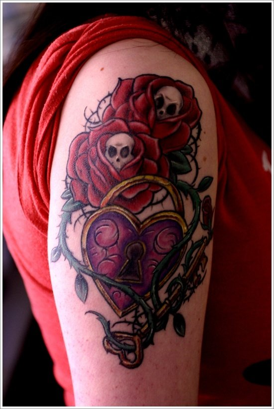lock tattoo design (3)