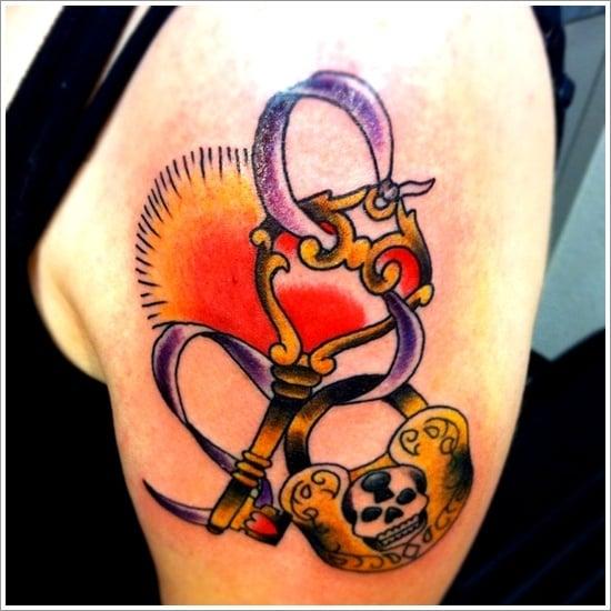 lock tattoo design (4)