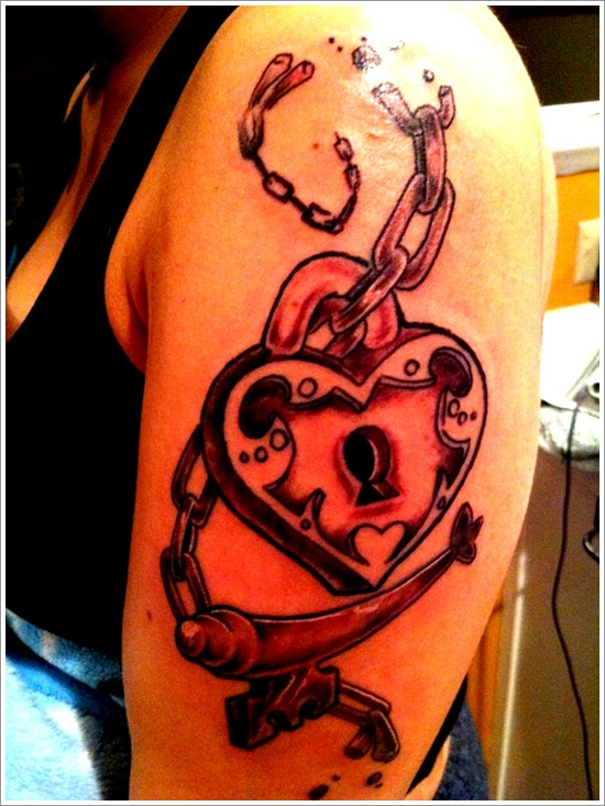 lock tattoo design (9)