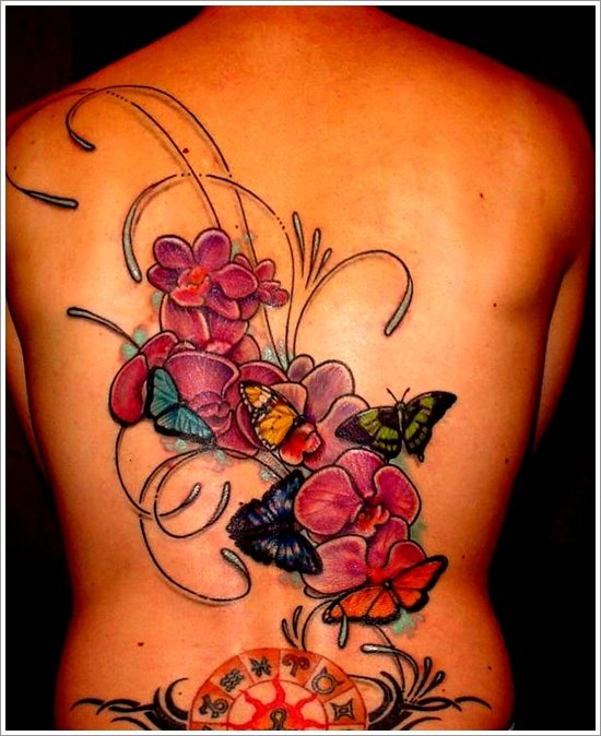 orchid tattoo design (17)