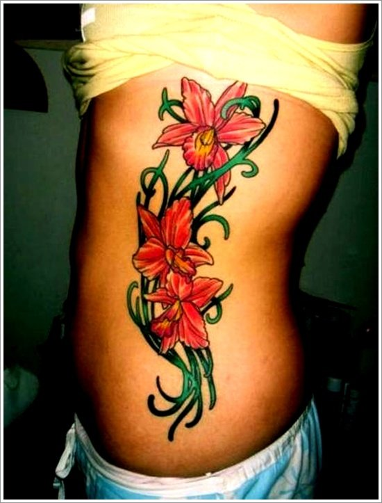 orchid tattoo design (19)