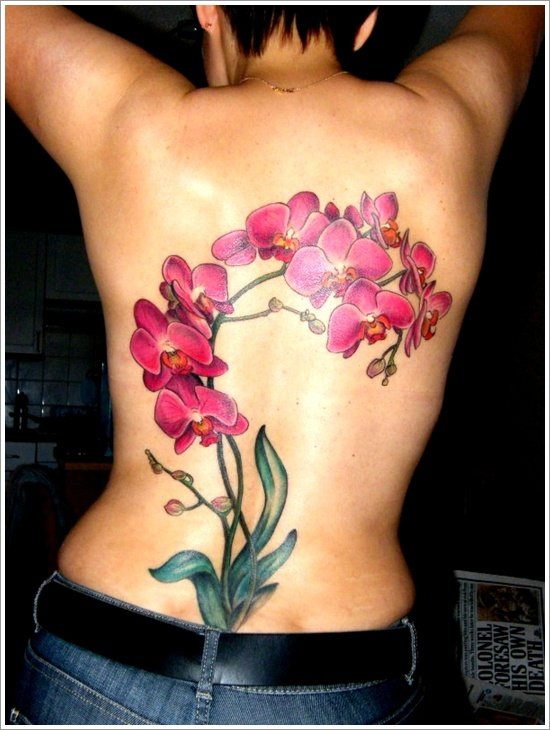 orchid tattoo design (20)
