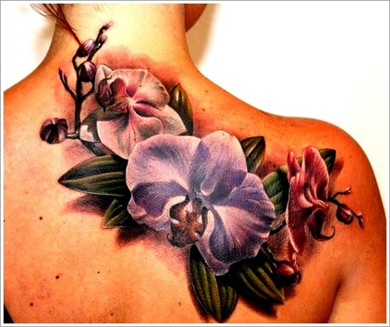orchid tattoo design (23)