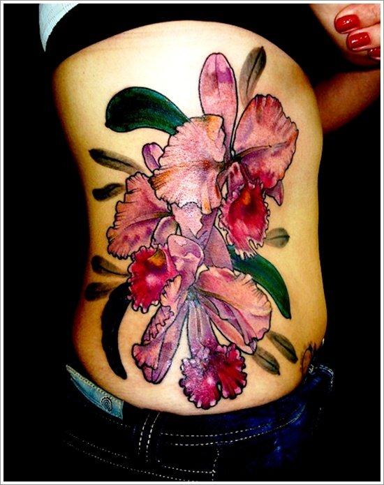 orchid tattoo design (24)
