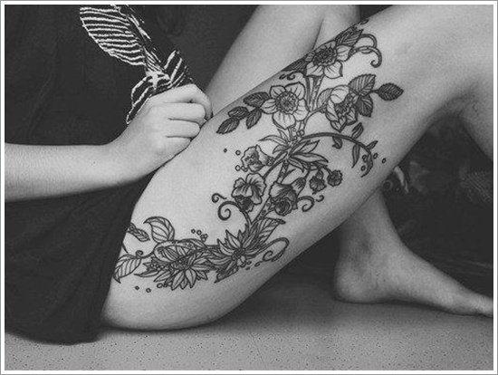 orchid tattoo design (26)