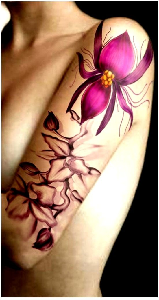 orchid tattoo design (28)