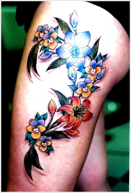 orchid tattoo design (9)