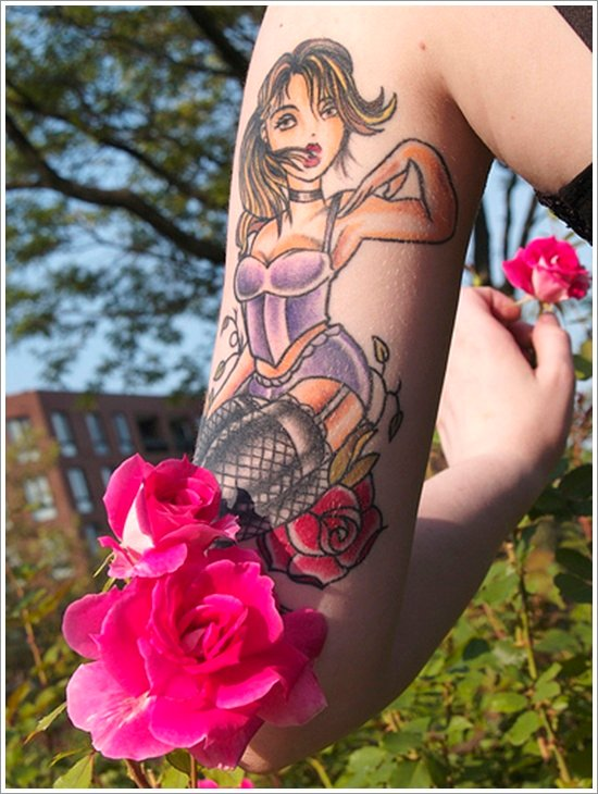 pin up girl tattoos (27)