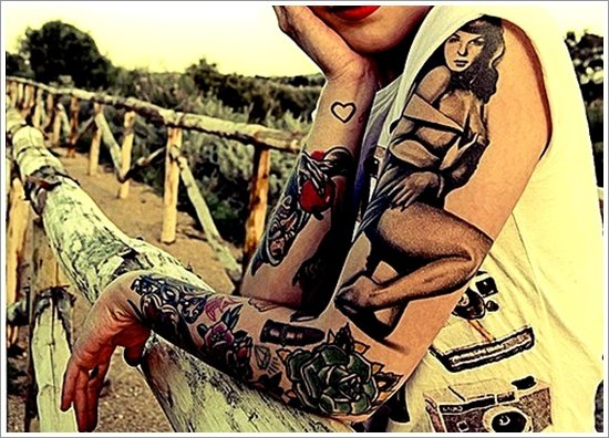 pin up girl tattoos (32)