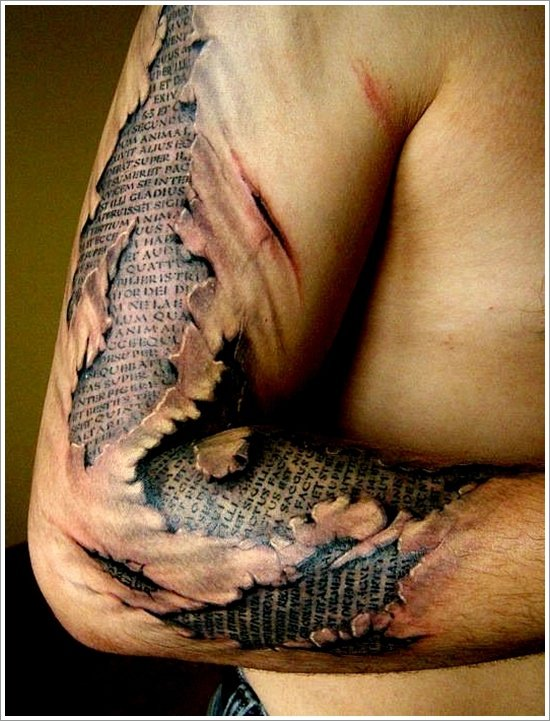 Ripped Skin Tattoos