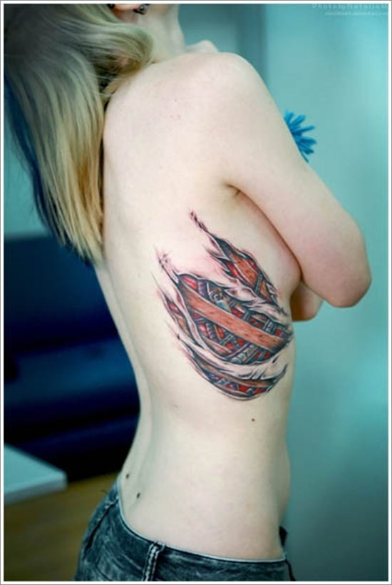35 Amazing Ripped Skin Tattoo Art Designs