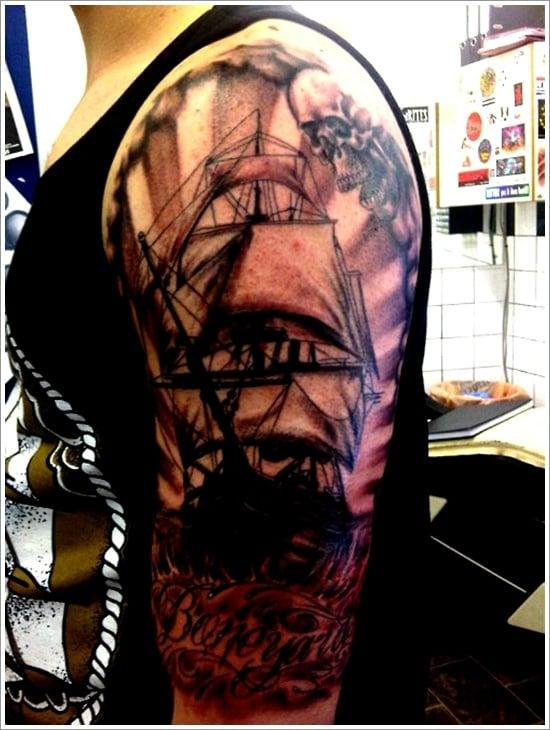 ship tattoo designs (28)