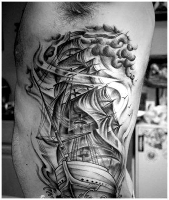 Here Are Some More Regal Ship Based Tattoo Designs For You