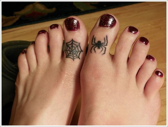35 spider tattoos that will get you all tangled. Black Bedroom Furniture Sets. Home Design Ideas