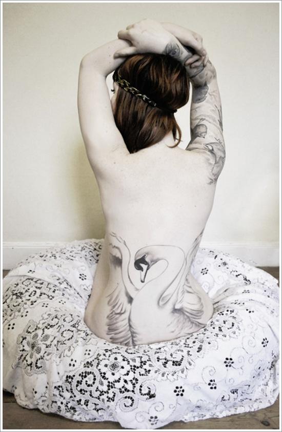swan tattoo designs (25)