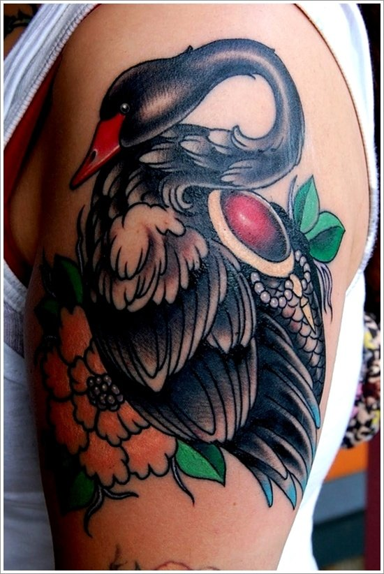 swan tattoo designs (29)