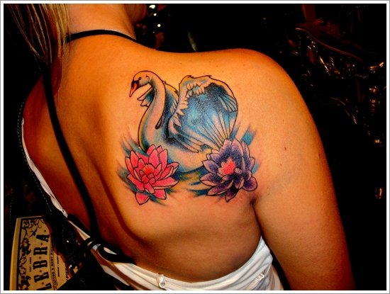 swan tattoo designs (30)