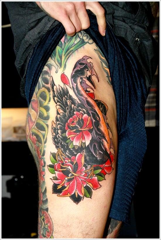 swan tattoo designs (7)