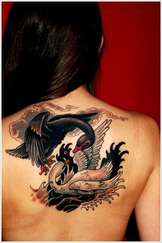 30 dazzling and eye catching swan tattoo designs