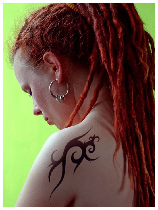 Tribal Shoulder Tattoo Designs For Women