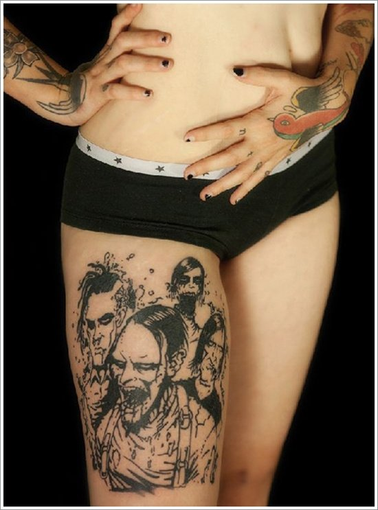 Zombie tattoo designs (10)