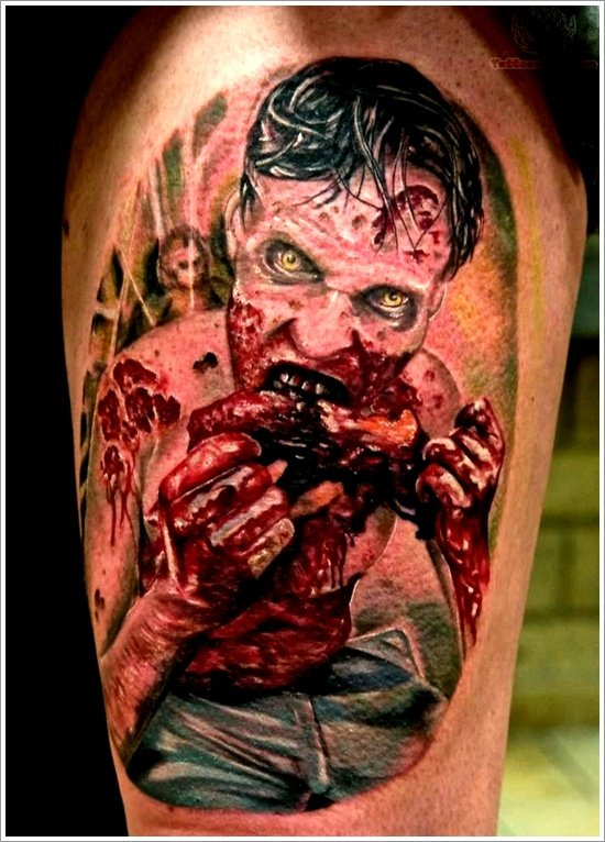 Zombie tattoos drawings