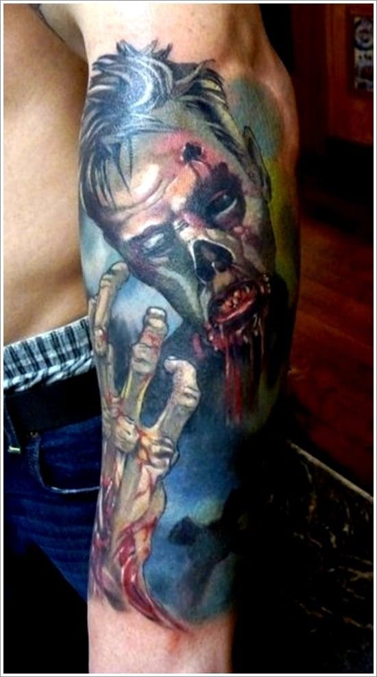 Zombie tattoo designs