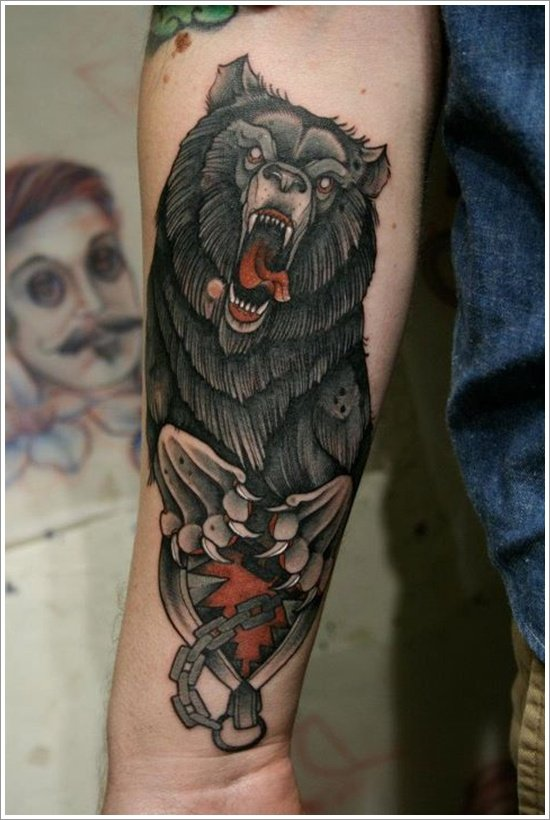 Bear Tattoo Design (17)