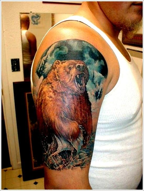Bear Tattoo Design (2)