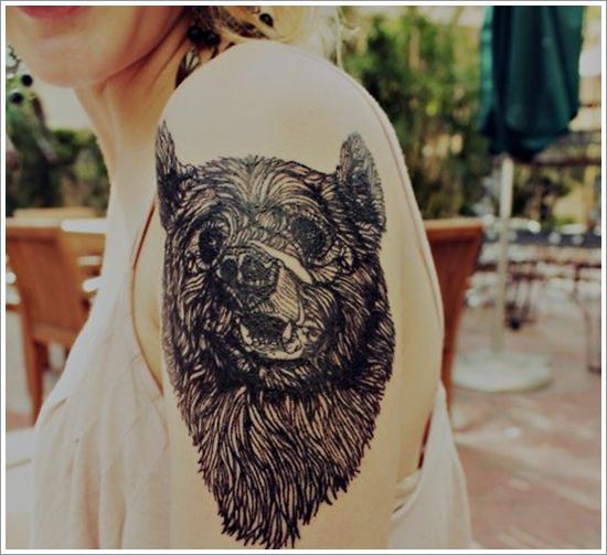 Bear Tattoo Design (20)