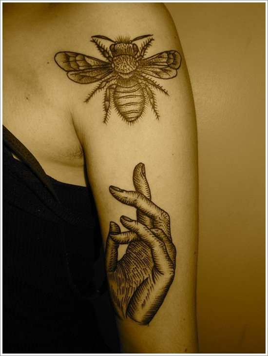 Bee Tattoo Designs (15)