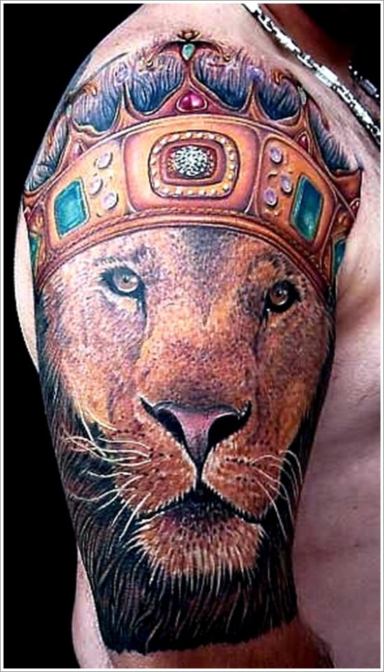 40 Glorious Crown Tattoos and Meanings 2015