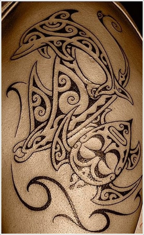 Dolphin tattoo designs (21)