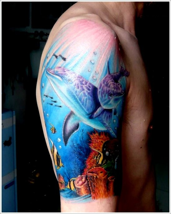 Dolphin tattoo designs (6)