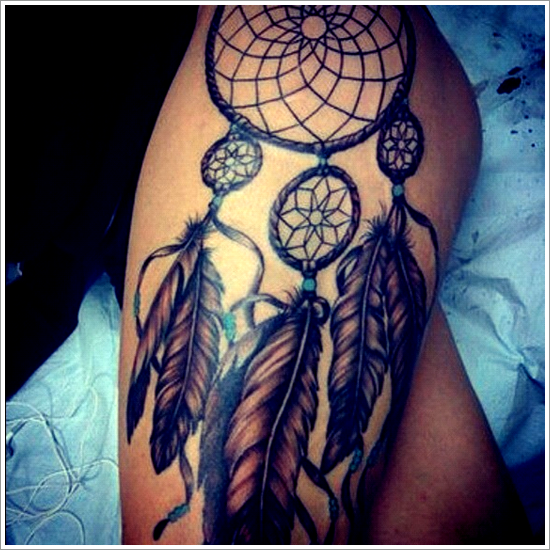 45 amazing dreamcatcher tattoos and meanings. Black Bedroom Furniture Sets. Home Design Ideas