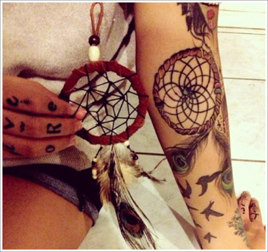 Dreamcatcher Tattoo Designs (35)