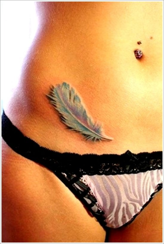 Feather Tattoo Designs (15)