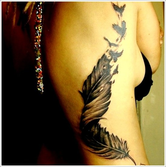 Feather Tattoo Designs (31)