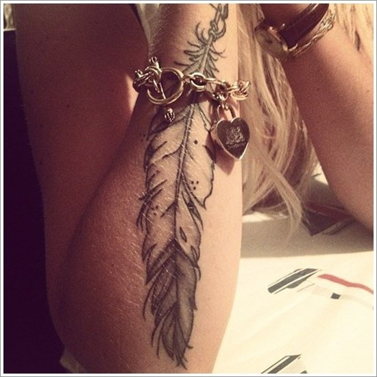 40 amazing feather tattoos you need on your body. Black Bedroom Furniture Sets. Home Design Ideas