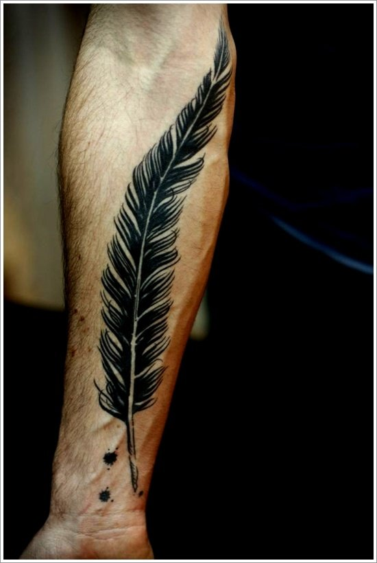 Feather Tattoo Designs (40)