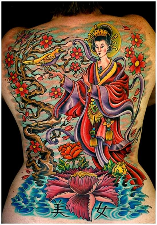 Geisha Tattoo Designs (1)
