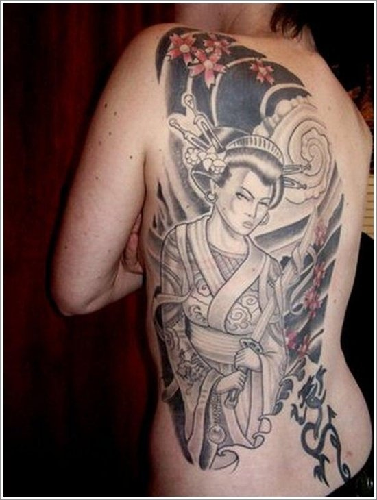 Geisha Tattoo Designs (12)