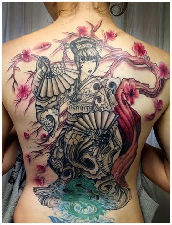 Geisha Tattoo Designs (18)