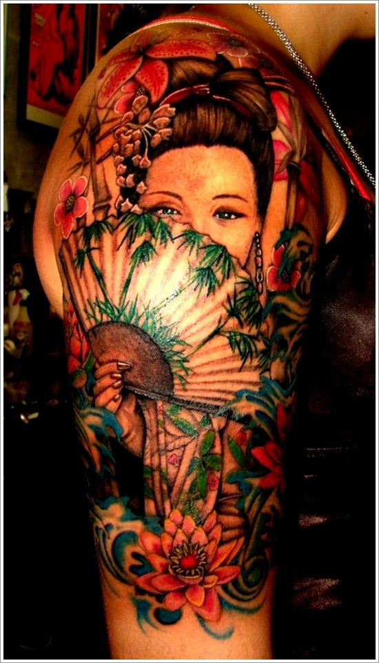 Geisha Tattoo Designs (2)