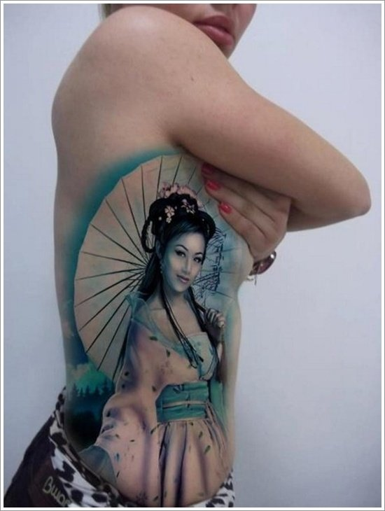 Geisha Tattoo Designs (20)