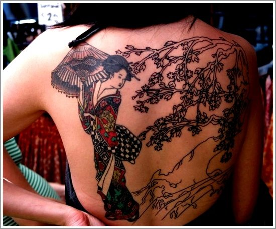 Geisha Tattoo Designs (25)