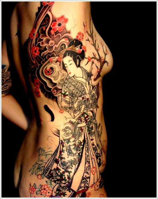 Geisha Tattoo Designs (28)