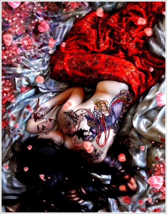 Geisha Tattoo Designs (29)