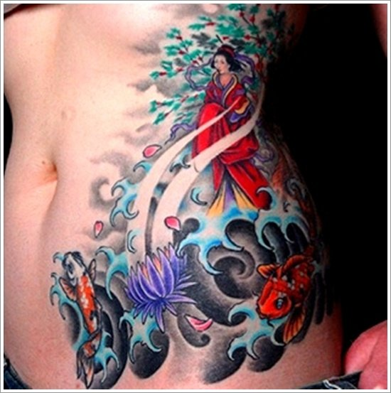 Geisha Tattoo Designs (30)