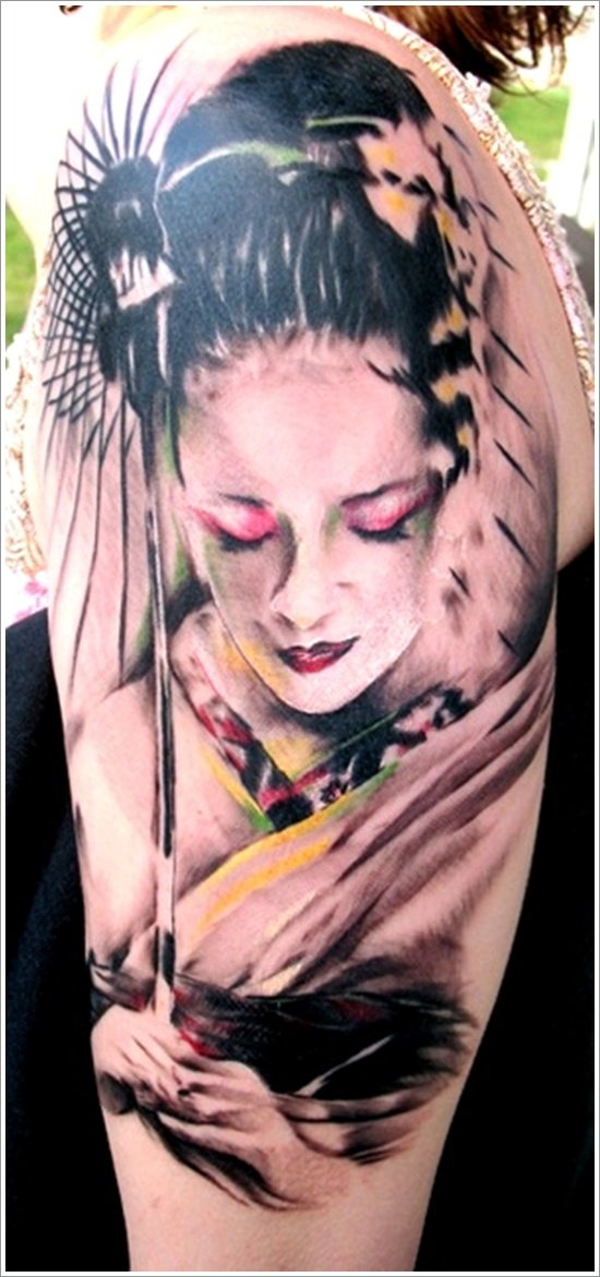 Geisha Tattoo Designs (31)